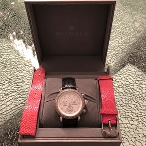 Michele Diamond chronograph watch